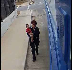 Bus driver finds baby all alone [Video]