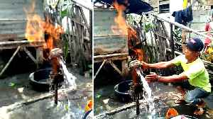Flammable Water Comes From Pump [Video]