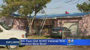 Work Begins On New Roof For WWII Veteran In Need [Video]