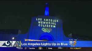 LA Lights Up Blue For Rams Ahead Of Divisional Playoff Matchup [Video]