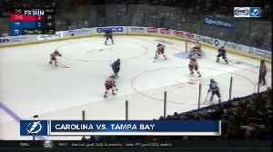 Brayden Point score 2 late goals, Tampa Bay Lightning beat Carolina Hurricanes 3-1 [Video]