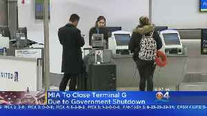 Miami International Airport Feeling Affects Of Government Shutdown [Video]