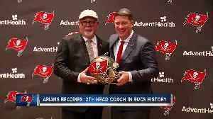News video: New head coach Bruce Arians confident Tampa Bay Buccaneers not far from playoff contention
