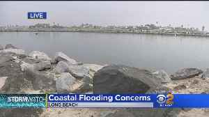 Long Beach Coastal Residents Prepare For Possible Flooding [Video]