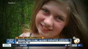 Missing teen found, alleged kidnapper arrested [Video]