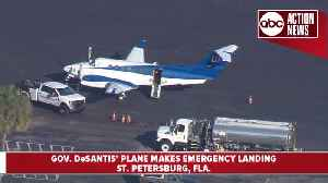 Gov. DeSantis' plane makes emergency landing in St. Pete [Video]
