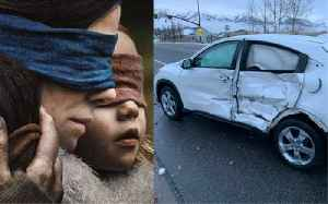 News video: 'Bird Box Challenge' Causes Blindfolded Driver to Crash
