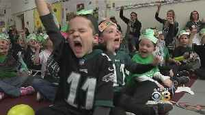 Youngest Members Of Eagles Nation Cheering On Team In Playoffs [Video]