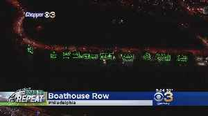 Boathouse Row Going Green For Eagles [Video]