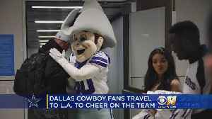 Dallas Cowboys Fans Receive Surprise Visits Before Boarding to LA [Video]