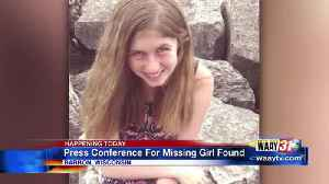 Press Conference For Missing Girl Found [Video]