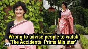 Wrong to advise people to watch 'The Accidental Prime Minister' : Aahana Kumra [Video]