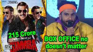 BOX OFFICE numbers doesn't matter to Ranveer Singh [Video]