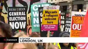 Anti-government and pro-Brexit protesters clash in London [Video]