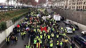 Yellow Vest protests in France hit with tear gas [Video]