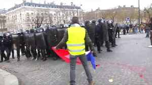 'Yellow Vest' protesters hit with police water cannon, tear gas in Paris [Video]