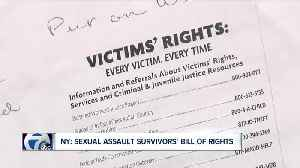 What's included in Gov. Cuomo's Sexual Assault Survivors' Bill of Rights? [Video]