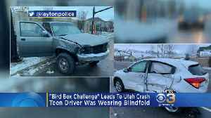 News video: Utah Teen Crashes Car While Wearing Blindfold