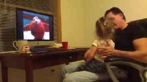 Little girl scolds dad for laughing at Elmo [Video]