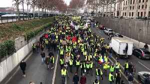 New round of 'yellow vest' protests erupts across France [Video]