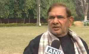 Sharad Yadav on SP-BSP alliance: Vote distribution should be minimum in opposition party [Video]