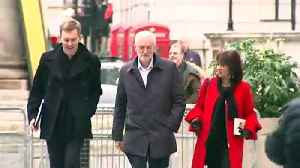 Stephen Barclay and Jeremy Corbyn arrive at the BBC for Marr [Video]