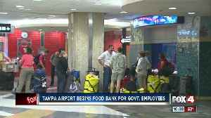 News video: Tampa airport begins food bank for government employees