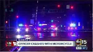Glendale officer involved in crash with motorcycle [Video]