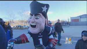 Patriots, Chargers Fans Rally At Gillette Before Playoff Game [Video]