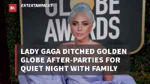 Lady Gaga Didn't Bother With Globes After Parties [Video]