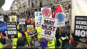 Protesters march ahead of voting on Brexit deal in UK Parliament [Video]
