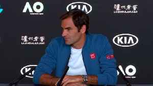 News video: Federer pays tribute to Murray on eve of Australian Open