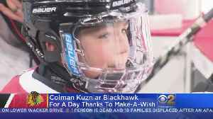 Chicago Blackhawks Make 8-Year-Old's Wish Come True [Video]