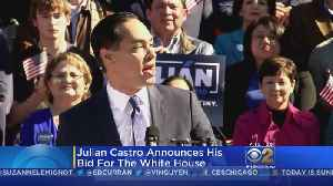 Julian Castro Announces Bid For 2020 Presidency [Video]