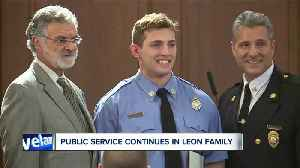 Cleveland firefighter given same badge number his dad wore when he was killed in the line of duty [Video]