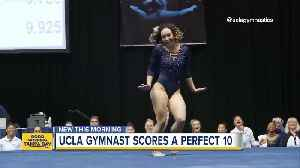 News video: UCLA gymnast earns perfect 10 with Michael Jackson inspired routine