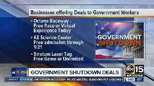 Deals, freebies for government workers during shutdown [Video]