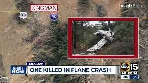 Woman killed, man seriously hurt in small plane crash east of Kingman [Video]