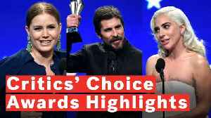 News video: Critics' Choice Awards 2019: Highlights