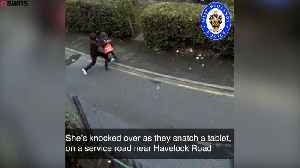 Police hunt thugs dragging pensioner to the ground [Video]