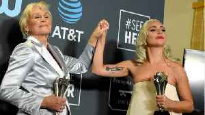 Lady Gaga and Glenn Close Share Award [Video]