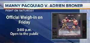 Fight week to feature events [Video]
