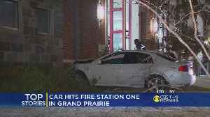 Man Arrested For DWI After Crashing Into Fire Station [Video]