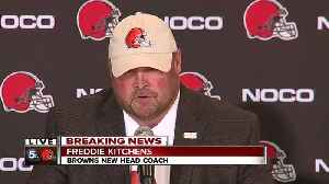 News video: Freddie Kitchens holds first news conference as Browns head coach