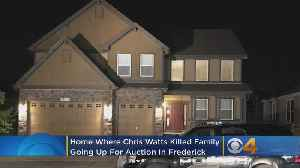 News video: Frederick Home Of Chris Watts To Be Auctioned After Murders Of Wife, Daughters