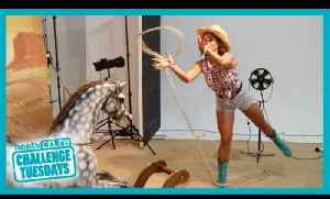 Vicky Pattison Lasso Challenge - Heat Challenge Tuesdays [Video]