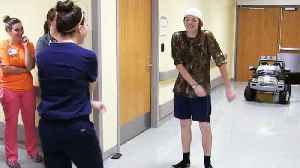 Teen Celebrates Leaving Hospital With 'Floss' Dance-Off [Video]