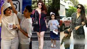 Kareena Kapoor, Sonali Bendre welcome the new week with their kids [Video]