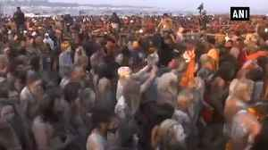 Flowers, foreigners and sadhus mark the beginning of Kumbh Mela [Video]
