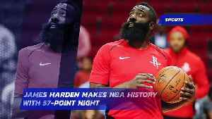 James Harden Makes NBA History With 57-Point Night [Video]